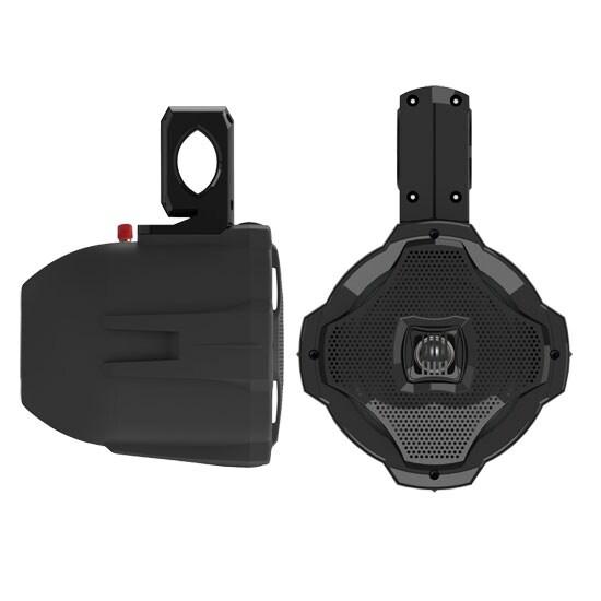 500 Watts 6.5'' 2-Way Marine Wake Board Speaker (Black Color)