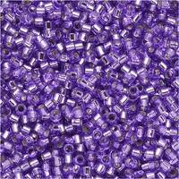 Miyuki Delica Seed Beads 11/0 - Dyed Silver Lined Lilac DB1347 7.2 Grams