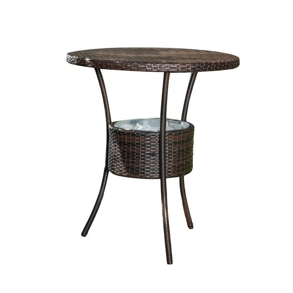 Oyster Bay Outdoor Wicker Bar Table by Christopher Knight Home. Opens flyout.