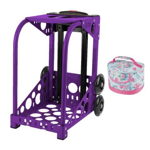 "Zuca Purple Sport Frame with Built-In Seat, Flashing Wheels & Lunchbox - 18"" x 10"" x 13"""