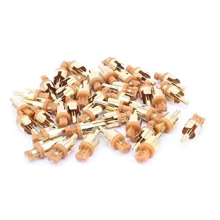 RCA Audio Video Male Plug Adapter Soldering Connector Gold Tone 40PCS