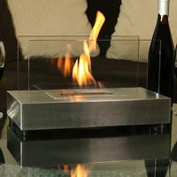 Sunnydaze El Fuego Ventless Bio Ethanol Tabletop Fireplace - Stainless Steel