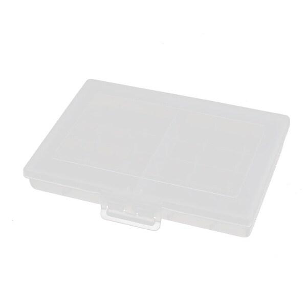 120mmx86mmx20mm Transparent Storage Case Hard Plastic Battery Holder Organizer