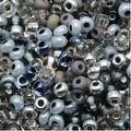 Czech Seed Beads 8/0 Silver Wares Mix (1 Ounce) - Thumbnail 0