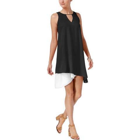 Bar Iii Womens Asymmetrical Shift Dress