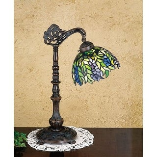 Meyda Tiffany 27167 Stained Glass / Tiffany Accent Table Lamp from the Honey Locust Collection