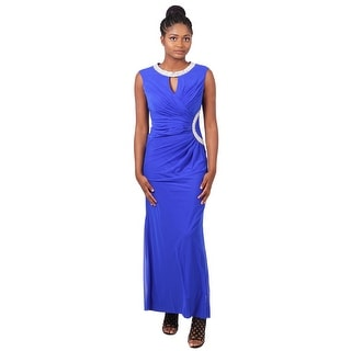 Sleeveless Beaded Ruched Jersey Sheath