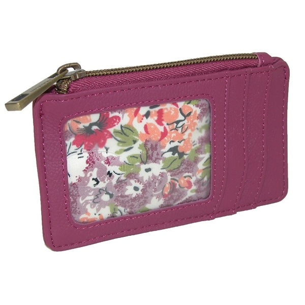 Travelon Women's Leather RFID Blocking ID and Card Case Wallet