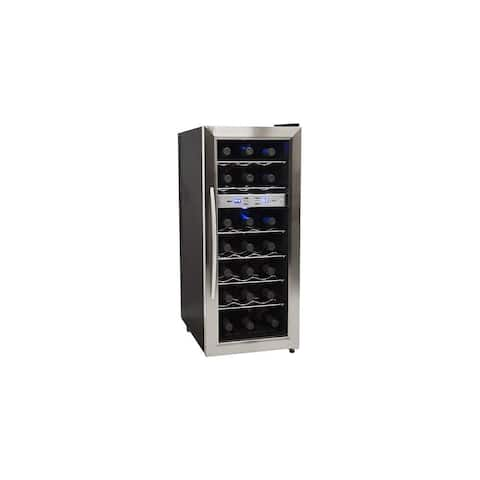 "EdgeStar TWR215E 13"" Wide 21 Bottle Wine Cooler with Dual Cooling Zones"