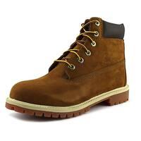 "Timberland Junior 6"" Premium Waterproof Youth Round Toe Leather Brown Work Boot"