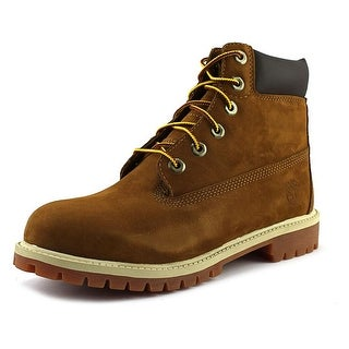 "Timberland Junior 6"" Premium Waterproof Youth Round Toe Leather Brown Work Boot"