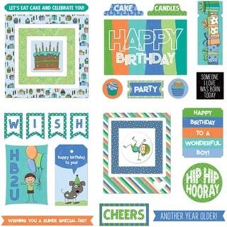 Birthday Boy Wishes Ephemera Cardstock Die-Cuts 26/Pkg-