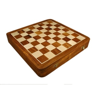 Sheesham Hinged Chest Chess Board - Multicolored