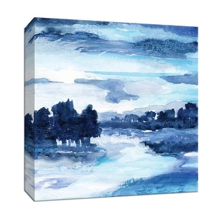"""PTM Images 9-147554  PTM Canvas Collection 12"""" x 12"""" - """"Indigo Land I"""" Giclee Streams & Rivers Art Print on Canvas"""