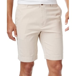Tommy Hilfiger NEW Beige Mens Size 31 Striped Classic Fit Shorts