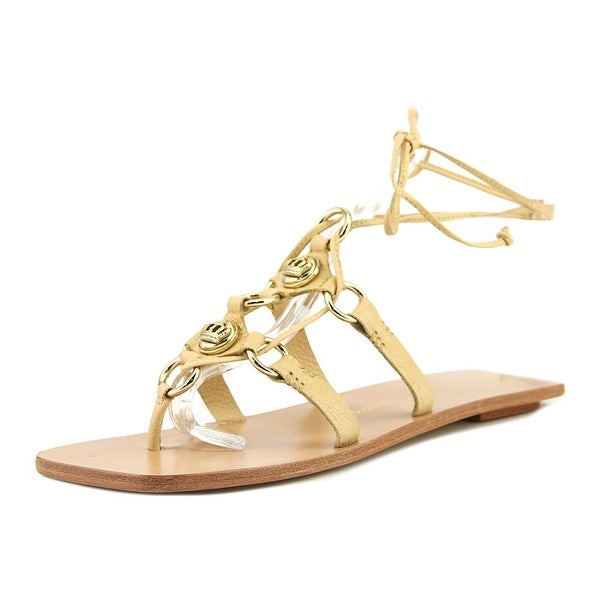 Juicy Couture Jeannette Women Open Toe Leather Tan Gladiator Sandal
