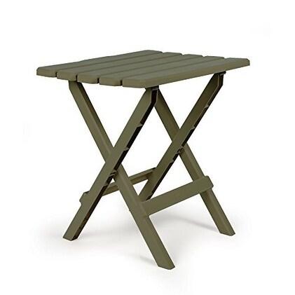 Camco 51884 Sage Large Quick Folding Adirondack Side Table