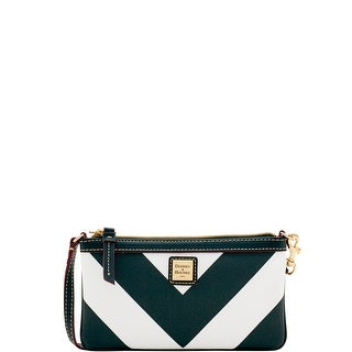 Dooney & Bourke Chevron Large Slim Wristlet (Introduced by Dooney & Bourke at $78 in Feb 2017) - black black