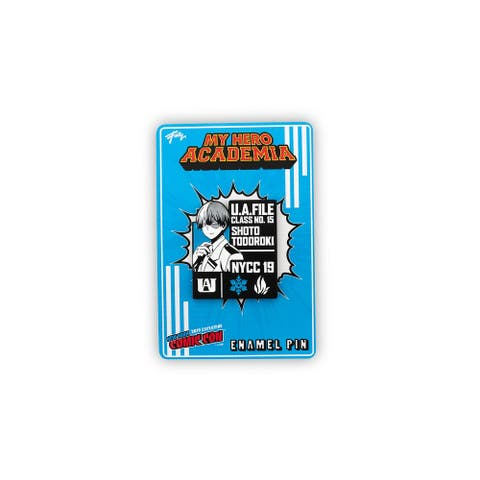 My Hero Academia Shoto Todoroki Pin Exclusive Collectible Pin 2 Inches tall - Blue