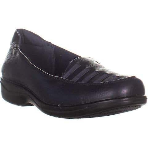 Easy Street Genesis Loafer Flats, Navy Burnish - 10 US