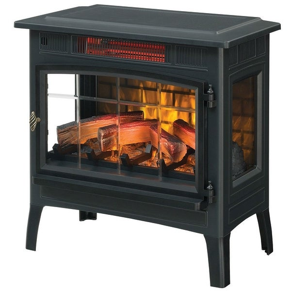 Black Infrared Quartz Electric Fireplace Stove Heater