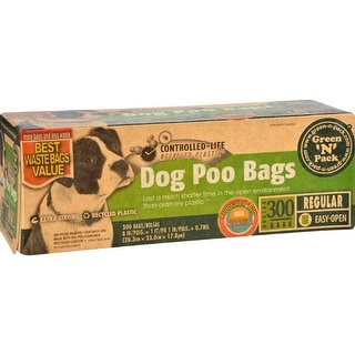 Eco-Friendly Bags Green N Pack Dog Poo Bags Litter Pick Up - (Case of 1 - 300 Bags)