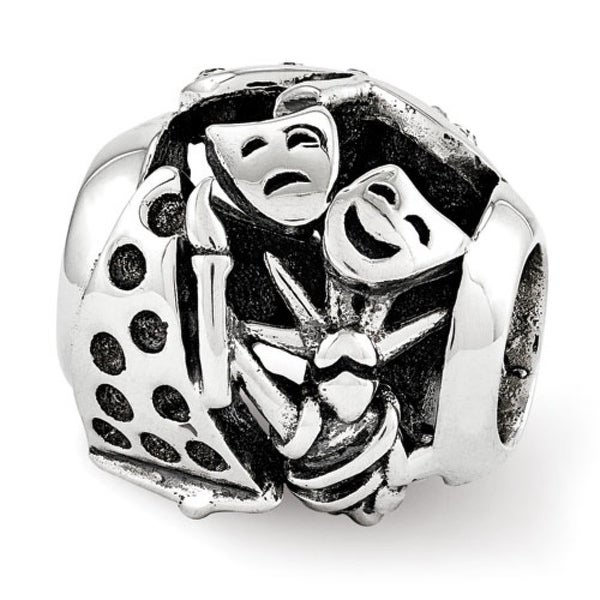 Sterling Silver Reflections Swarovski New York Collage Bead (4mm Diameter Hole)
