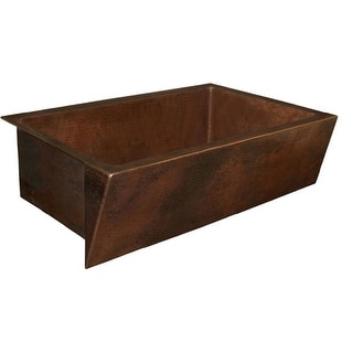 """Native Trails CPK90 Zuma 33"""" Single Basin 16 Gauge Hammered Copper Kitchen Sink for Undermount or Farmhouse Installations with"""