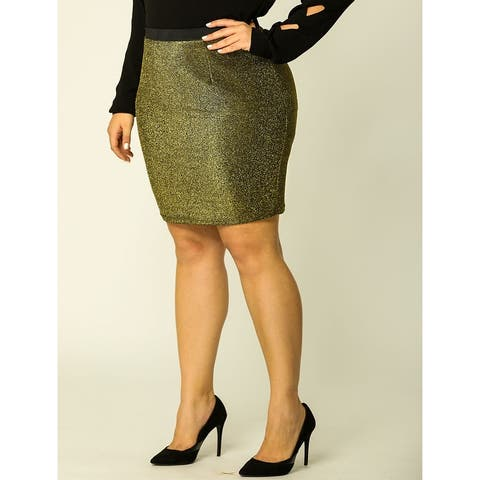 Women's Plus Size Elastic Waist Leopard Prints Mini Pencil Skirt Halloween