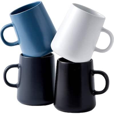 Bruntmor Modern Matte Large 16 Oz Ceramic Coffee Mug Set Of 4 Cups For Coffee, Latte Cappuccino Tea, Cereal Cup