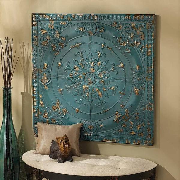 Design Toscano Viennese Pressed Metal Ceiling Tile Wall Sculpture