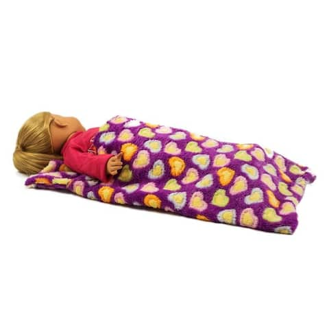 18 Inch Doll Bedding Accessory, Purple Sleeping Bag Fits American Girl