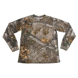 Mens Realtree Camo 100-percent Cotton Full Sleeve Hunting Zone Shirt Brand New HS-1
