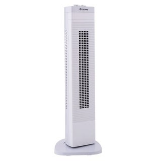 Costway 30'' Tower Fan Portable Oscillating Cooling Bladeless 3 Speed - White