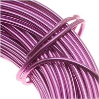 Aluminum Craft Wire Pink 12 Gauge 39 Feet  (11.8 Meters)