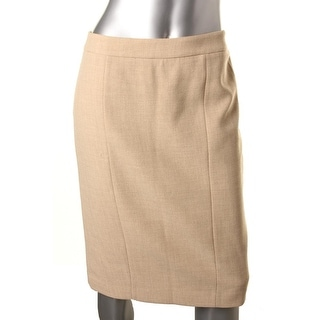 Anne Klein Womens Woven Pleat-Back Pencil Skirt - 6