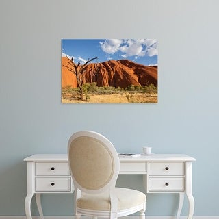 Easy Art Prints Paul Souders's 'Ayers Rock On A Summer Evening' Premium Canvas Art