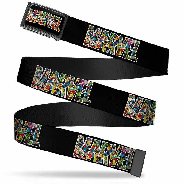 Marvel Comics Marvel Retro Fcg Comics Black Chrome Marvel Black Retro Web Belt