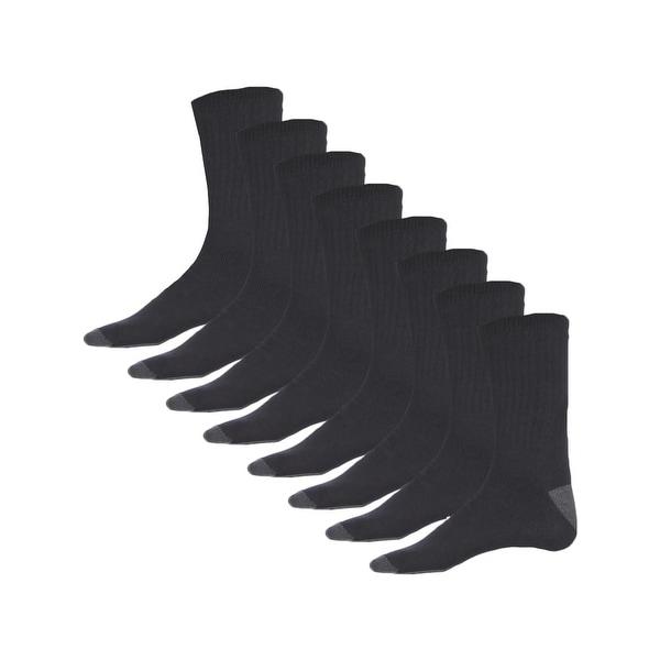 Stanley Mens Crew Socks 8 Pack Reinforced Heel - 10-13