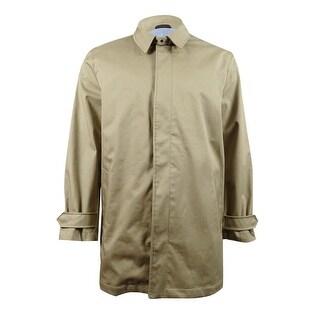 MICHAEL Michael Kors Men's Goshen Poly-Bonded Raincoat (38S, British Khaki) - british khaki - 38S