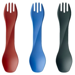 Humangear GoBites Uno Reusable Fork and Spoon Combination Travel Utensil (Option: Red)