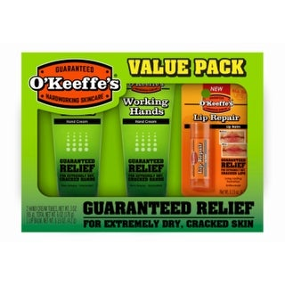 O'Keeffe's K0290012 Combo Working Hands Tubes & Lip Repair Value Pack, 3-Pack