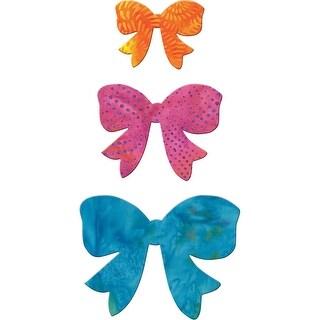 """GO! Fabric Cutting Dies-Bow 2.5"""", 3.5"""" & 4.5"""" - bow 2.5"""", 3.5"""" & 4.5"""""""