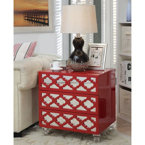 Furniture of America Brey Contemporary 3-drawer Side Table