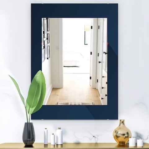 Designart 'Simple Blue' Modern Mirror - Wall Mirror