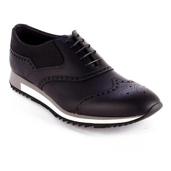 Leather Black Derby On Shoes Sale Shop Prada Sneaker Men s Smooth wqSvfBt1f dc6b428ffab