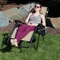 Sunnydaze Oversized Zero Gravity Lounge Chair with Pillow and Cup Holder - Thumbnail 99