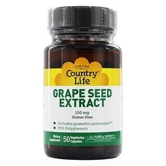 Country Life Vitamins Grape Seed Extract 100mg 50 Vegicaps