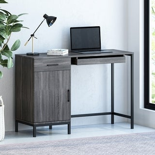 Link to Gallaudet Faux Wood Computer Desk by Christopher Knight Home Similar Items in Desks & Computer Tables