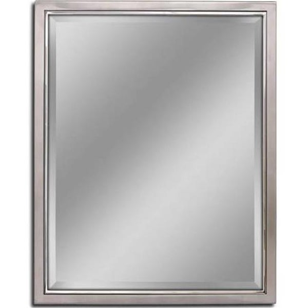 30 x 24 in. Classic Metal Framed Wall Mirror - Brush Nickle & Chrome ...